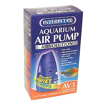 Interpet AirVolution AV3 Aquarium Air Pump