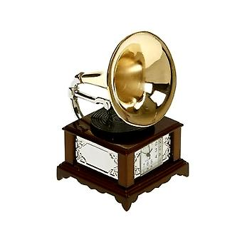 Miniature Retro GramoPhone Novelty Collectors Clock 0104