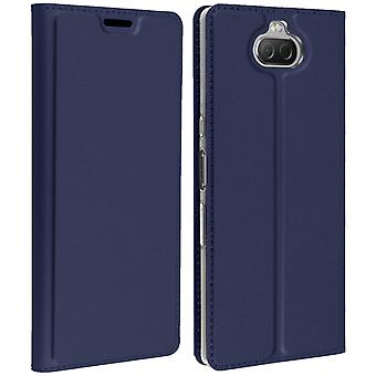Sony Xperia 10 Storage Card Case Support Function Dux Ducis Blue Night
