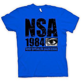 Kinder T-shirt - NSA 1984 Spionage auf Amerikaner - Polizeistaat