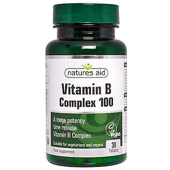 Nature's Aid Vitamin B Complex 100 Time Release (Mega Potency) Tablets 30 (121010)