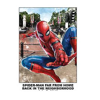 Throw - Spiderman Far From Home Back In The Neighborhood 45x60