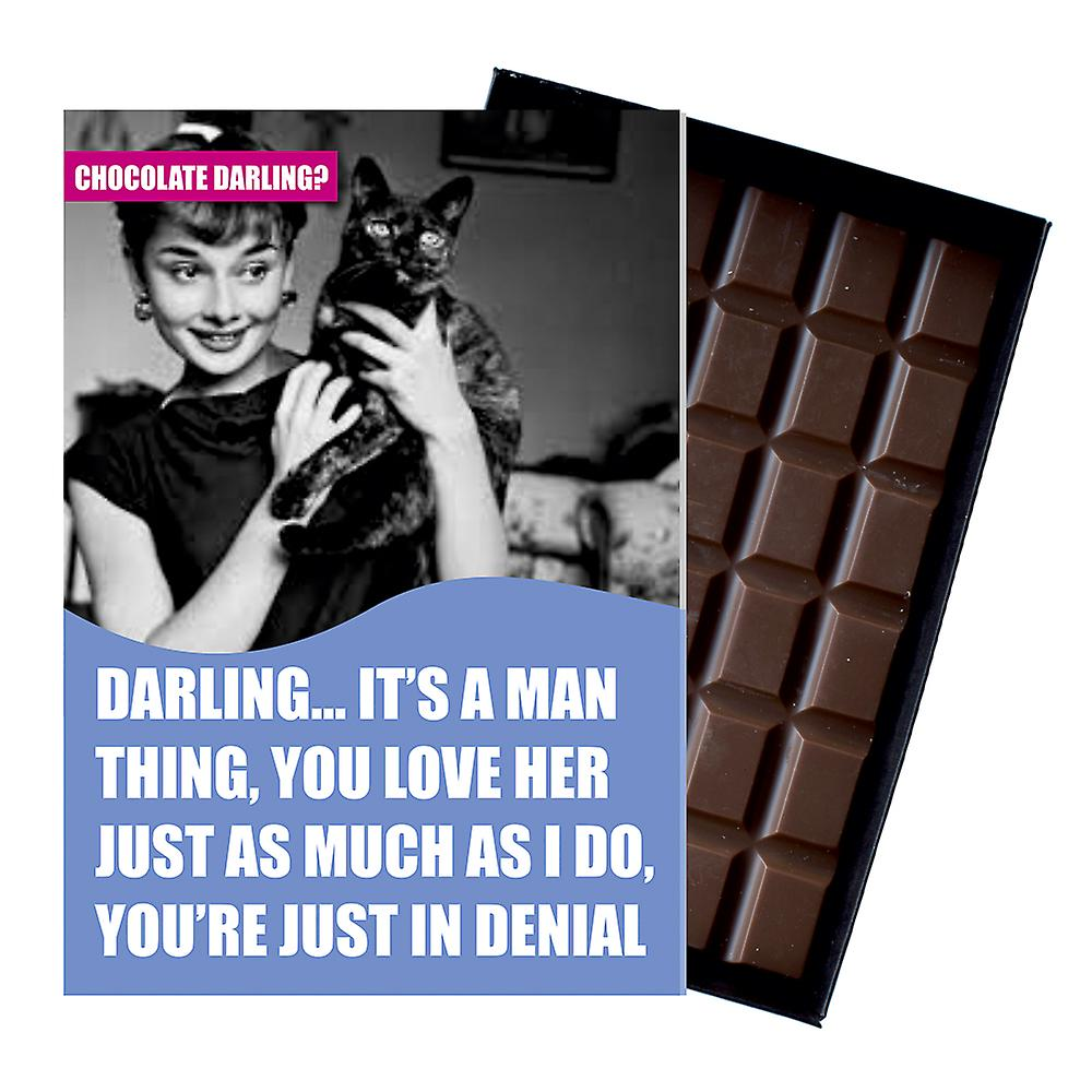 Funny Cat Lover Birthday Gift For Men Silly Boxed Chocolate Greeting Card Present for Man CDL114