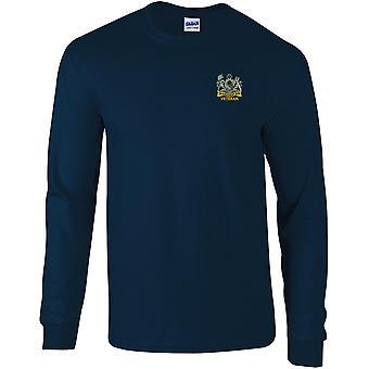 Manchester Regiment veteran-licensierade brittiska armén broderade Långärmad T-shirt
