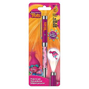 Projector Pen - Trolls Movie - HG Flashlight 1.0mm Ballpoint New iw4134