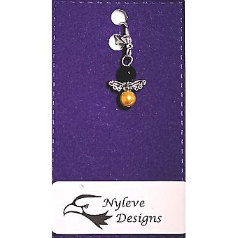 Handmade Clip-on Silver-plated Bee Charm by Nyleve Designs