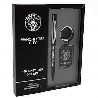 Manchester City penna & nyckelring set