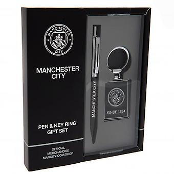 Manchester City pen & keyring set