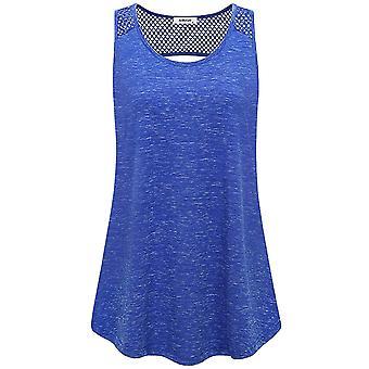 AxByCzD Muscle Tank,Women Sleeveless Backless, Blue-01#open Back, Size X-Large
