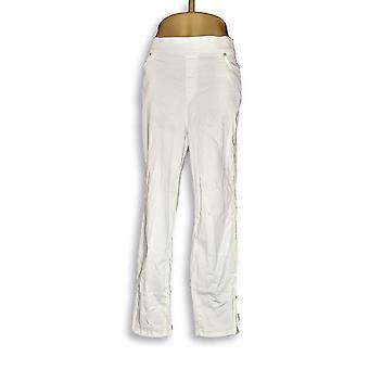 Martha Stewart Women's Plus Jeans Knit Denim Ankle White A351436