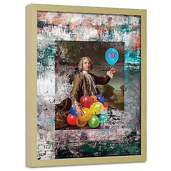 Poster no frame, balões coloridos 2
