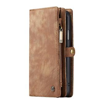 CASEME iPhone 11 Pro retro Split lederen portemonnee Case-Brown