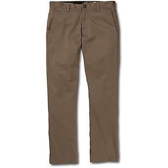 Volcom Frickin Modern Chino Trousers in Mushroom