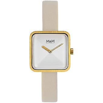 M & M Germany M11951-732 Square Line Ladies Watch