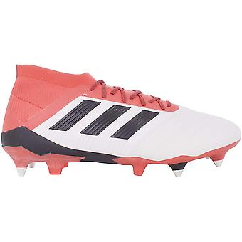 adidas Performance Mens Predator 18.1 Soft Ground Leather Football Boots - White