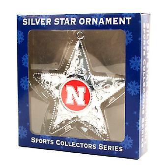 Nebraska Cornhuskers NCAA Sports Collectors Series Silver Star Ornament