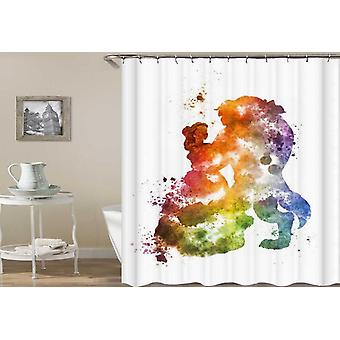 Colorful Splash Beauty And The Beast Shower Curtain