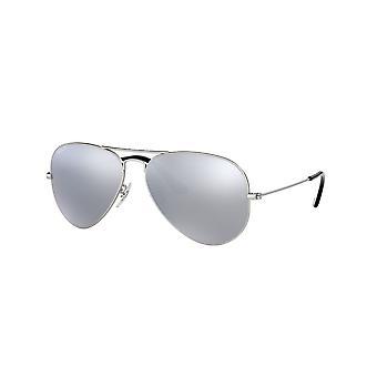 راي بان الطيار RB3025 019/W3 الفضة / بولاريسد فضة مرآة النظارات الشمسية