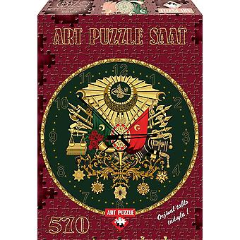 Heidi4138 570 Pieces The Ottoman Amblem Art Puzzle Clock with Golden Glitter Toys