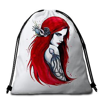 Redhead schöne Mädchen Strand Handtuch