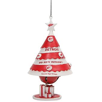 Detroit Red Wings NHL Tree Bell Ornament