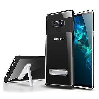 Custodia Kickstand per Samsung S10 Trasparente Nero