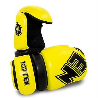 Top Ten Glossy Block Pointfighter Guantes Amarillo/Negro