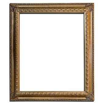 Träram i guld, innermått 50x60 cm