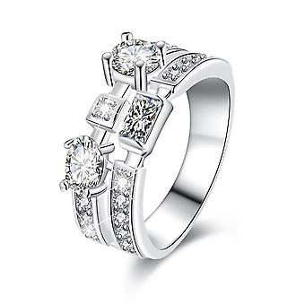 18k white-gold plated ginevra ring