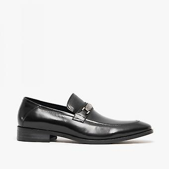 Blakeseys Pistol Mens Leather Horsebit Loafers Black