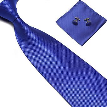 Costume Accessories | Tie + handkerchief + cufflinks-Blue