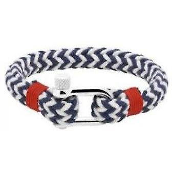 B35066005M Armband - Armband Stahl blau & weiße Winde Mann rot Nylon Ratsche