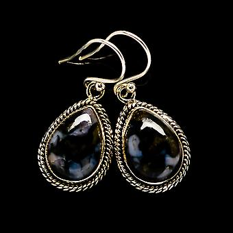 "Gabbro Earrings 1 1/4"" (925 Sterling Silver)  - Handmade Boho Vintage Jewelry EARR394671"