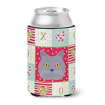 Carolines Treasures  CK5095CC British Shorthair Cat Love Can or Bottle Hugger