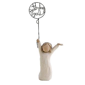 Willow Tree Birthday Girl Balloon Figurine