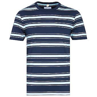 Albam Heritage raita vaaleansininen & tummansininen T-paita