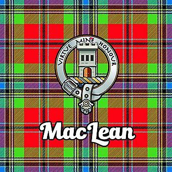 Art2Glass Tartan Clan Coaster - Maclean