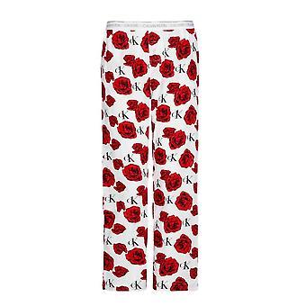 Calvin Klein CK One Tkane bawełniane spodnie piżamy - Urocze róże /amerykańskie sny