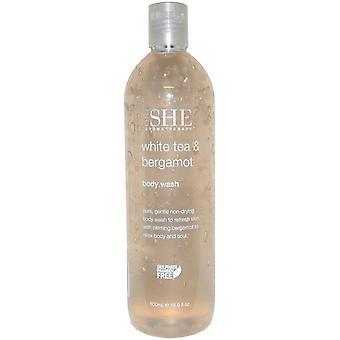Om She Aromatherapy Body Wash 500ml White Tea & Bergamot