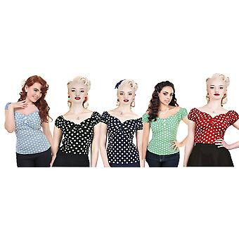 Collectif Vintage Women's 1950's Polka Dot Dolores Doll Top