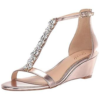 Jewel Badgley Mischka Women's DARRELL Sandal, rose gold/metallic, 6 M US