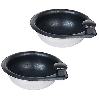 Pendeford Set of 2 Metal Egg Poacher Cups