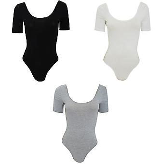 American Apparel Womens/Ladies Cotton Spandex Short Sleeved T-Shirt Leotard