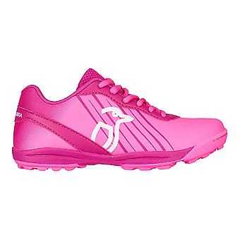 Kookaburra 2018 Neon Kids Girls Field Hockey Trainer Shoe Pink