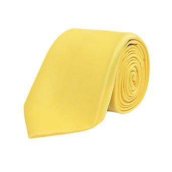 Dobell gutter gul Tie Satin føle stoff bryllup slips