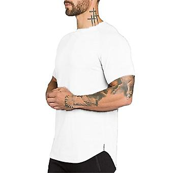 Athlemon Mens Muscle T Shirts Short Sleeve Hipster, Style2 White, Size XX-Large