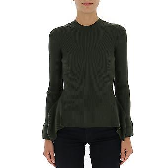 Alberta Ferretti 09166600a0439 Women's Green Cotton Sweater