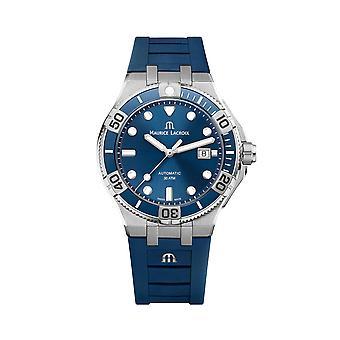 Maurice LaCroix Aikon Automatic Venturer Blue Dial Rubber Strap Men's Watch AI6058-SS001-430-1
