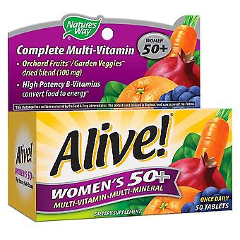 الطريق الطبيعة على قيد الحياة! المرأة 50 + الطاقة، أقراص الفيتامينات، عصام 50
