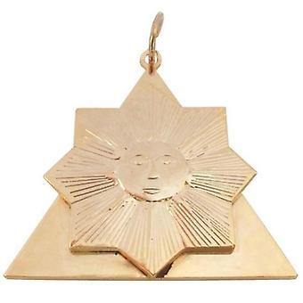 Masonic collar jewel memphis misraim knight of the sun - 28th degree